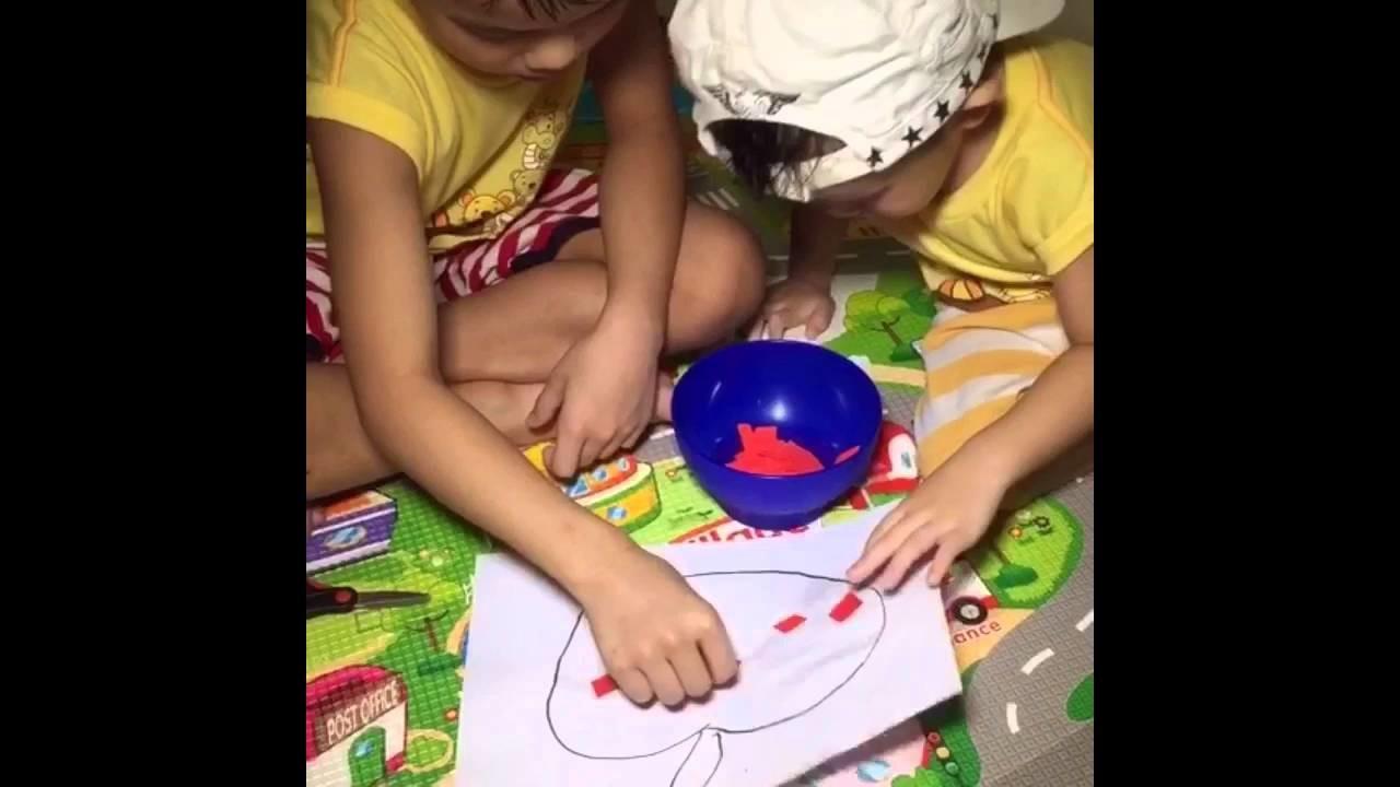 Simple Craft for Kids: Torn Paper Apple Art