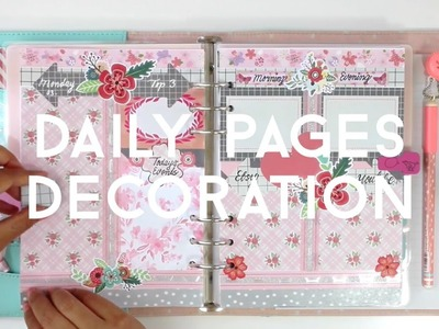 #03.10 HOW I SET UP MY DAILY PAGES IN MY KIKKI.K PLANNER || DECORATE WITH ME