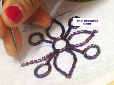 AARI.MAGGAM.TAMBOUR.KASAB -Embroidery -How to sew bugle beads