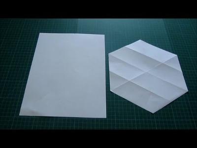 Art and Craft: How to cut Regular Hexagon from Rectangular paper