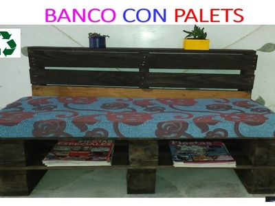 BANCO CON PALLETS. HOW TO MAKE A BENCH FROM RECLAIMED PALLET WOOD - PALLET PROJECTS