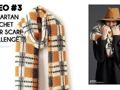 Big Tartan Crochet Super Scarf Challenge Video Three: Left Handed