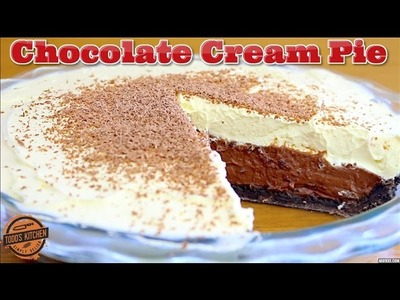 CHOCOLATE CREAM PIE - How to make no bake dessert recipe
