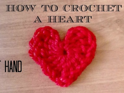 Crochet a heart left hand