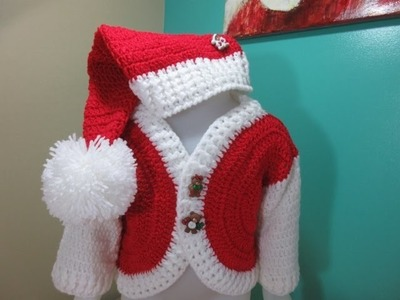 Crochet baby Santa hat for beginners