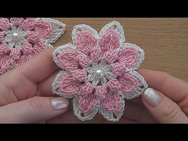 Crochet Flower Tutorial Easy : Crochet flower tutorial VERY EASY, My Crafts and DIY Projects