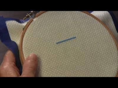 Cross Stitch - How to Cross Stitch A Row