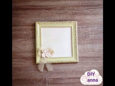Decoupage shabby chic photo frame DIY vintage ideas decorations craft tutorial. URADI SAM