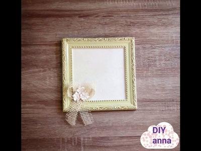 Decoupage shabby chic photo frame DIY vintage ideas decorations craft tutorial. URADI SAM