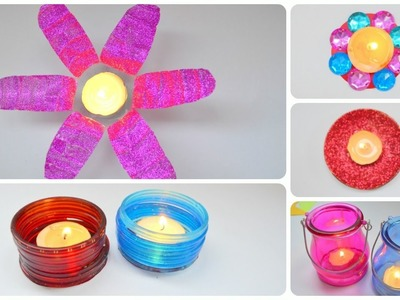 DIWALI DECORATION IDEAS 2016 AT HOME || Candle Decor || How To Decorate your Home with Candles