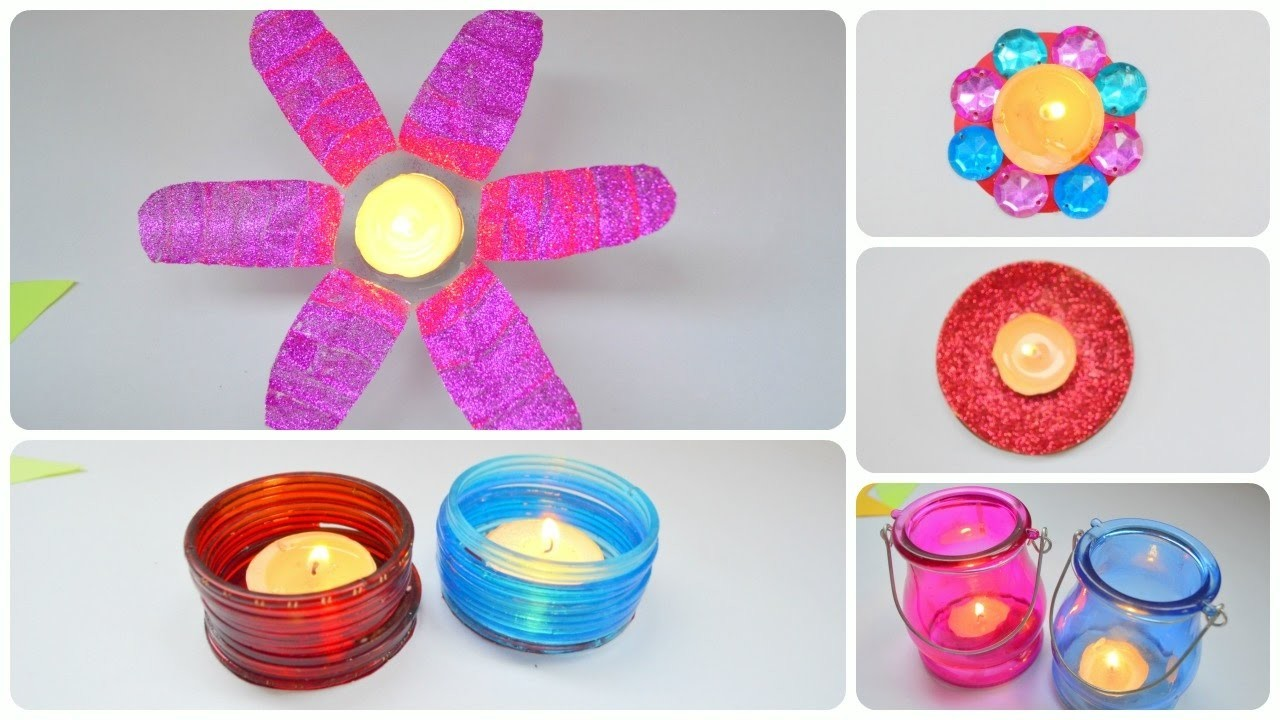 DIWALI DECORATION IDEAS 2016 AT HOME || Candle Decor || How To ...