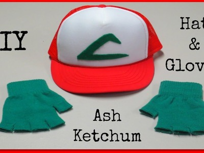 DIY Ash Ketchum Hat & Gloves - Pokemon Halloween Costume!
