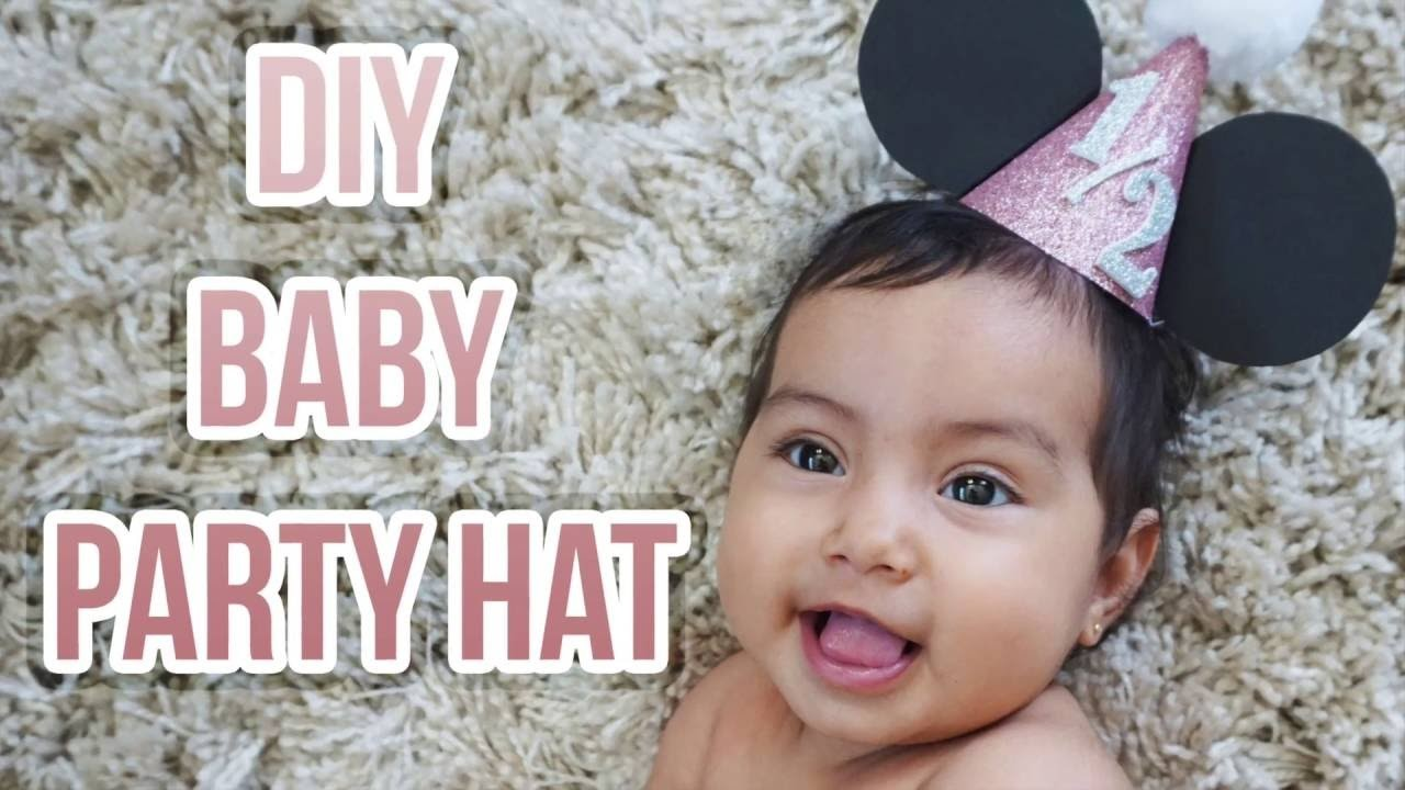 DIY BABY PARTY HAT (first birthday, half birthday, & more!)