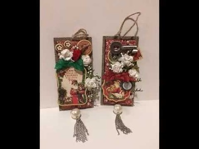 DIY Christmas Ornament using Graphic 45 St. Nicholas Collection