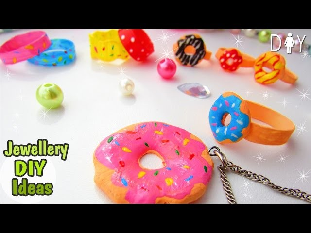 DIY Donut Jewellery.RING & PENDANT. From the Hot Glue