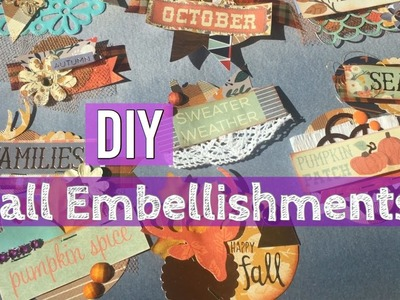 DIY Fall Layered Embellishments Tutorial. Tips & Tricks on Making Embellishments | I'm A Cool Mom