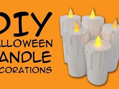 DIY Halloween Decoration Candles: Crafty McFangirl Tutorial