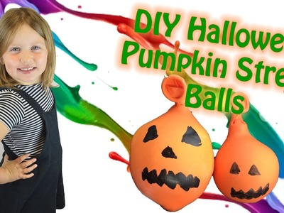 DIY Halloween Squishy Stress Balls | Pumpkin Arts and Crafts | Amelia's Crafty Corner