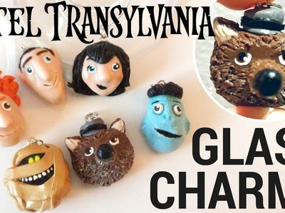 DIY Hotel Transylvania Polymer Clay Characters-Glass Markers.Charms Tutorial