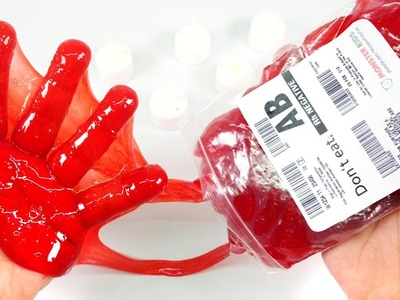 DIY How To Make BLOOD SLIME !! Halloween Slime
