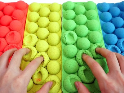 DIY How To Make Kinetic Sand Colors Balls Modeling and Colors Stress Balloons Slime Ball Play