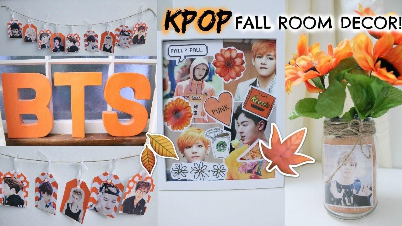 DIY: KPOP FALL ROOM DECOR!   Hunnie Bunnie ♡♡♡