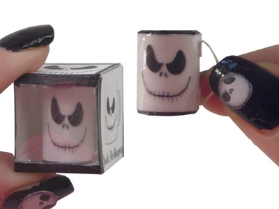 DIY Miniature ☻Cup Jack Skellington☻  for Dollhouse TUTORIAL - Crafts