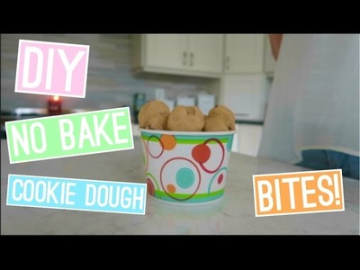 DIY NO BAKE COOKIE DOUGH BITES| easy & quick! | itzamanda