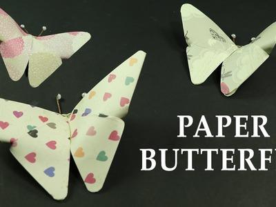 DIY Paper Crafts: How to Make Paper Butterflies, Wall Decor Art