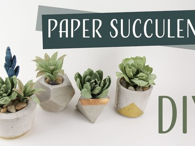 DIY Paper Succulents. Suculentas de Papel Collab: Carte Fini - Part 1