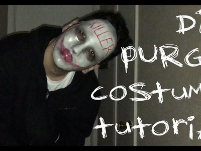 DIY PURGE HALLOWEEN COSTUME TUTORIAL!!! (CHEAP, EASY, AND QUICK!)