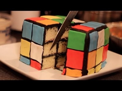 DIY RUBIKS CUBE CAKE- DIY Test #8