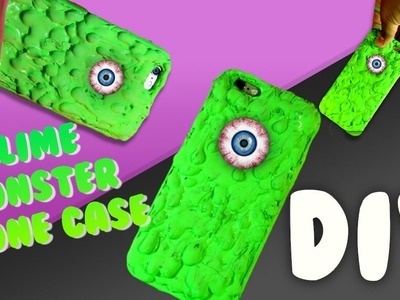 DIY Slime phone case?!?. How to make a slime monster phone case !!!!!