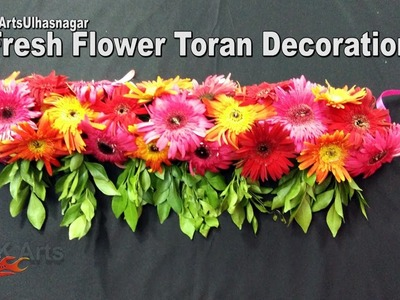 DIY Toran. Bandhanwar from Fresh Flowers | How to make |  JK Arts 1100