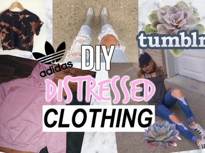 DIY TUMBLR INSPIRED Distressed Clothing for Fall.Winter + LOOKBOOK ♡