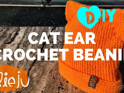 DIY Tutorial - Cat Ear Crochet Hat - Easy Do It Yourself