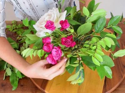 Flower Moxie DIY Organic Centerpiece  ~SUPER FAST TUTORIAL~