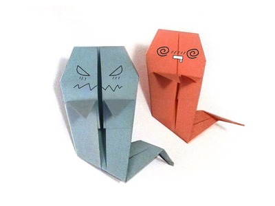Halloween Origami Ghost - Tutorial - How to make an origami ghost