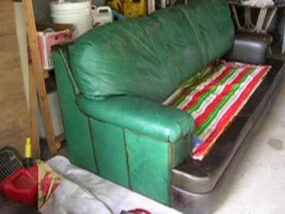 How I Dyed a Green Leather Sofa Brown-Part 2