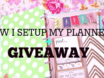 How I Set Up My Planner | Target Dollar Spot + GIVEAWAY