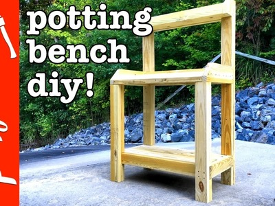 How To Build A Potting Bench DIY | Crafted Workshop