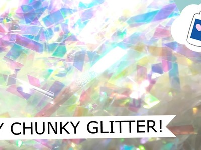 HOW TO - Chunky Holo Glitter Using Cellophane 10-1-16