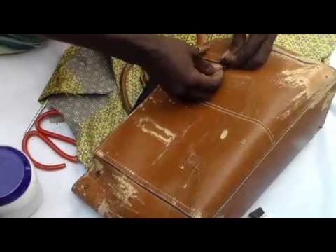 How to cover bag with ankara(fabric)