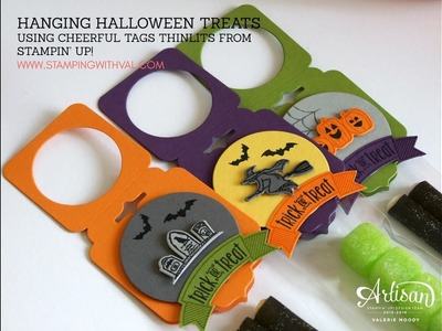 How To Create A Hanging Halloween Treat - Stamping With Val
