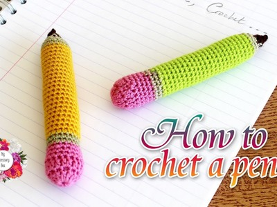 How to crochet a pencil   easy tutorial for beginners