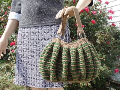 How To #Crochet Easy Handbag Purse #TUTORIAL #341