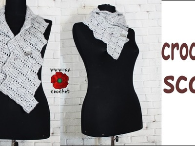 How to crochet lace scarf Zigzag lace scarf