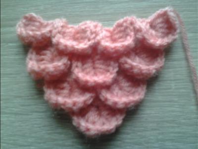 How to Crochet ?. . .triangle Scarf crochet. .syal segitiga