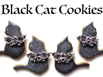 How To Decorate Black Cat Cookies for Halloween!