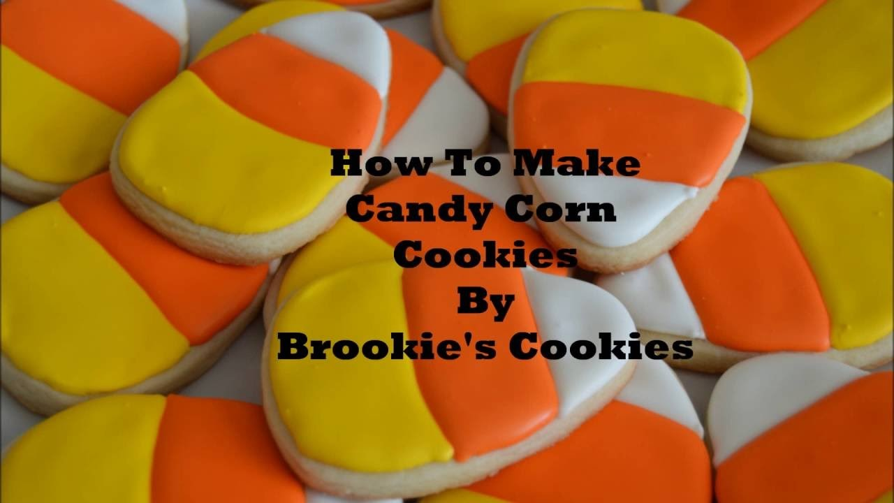 How To Decorate Candy Corn Cookies For Halloween